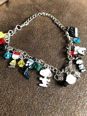 Peanuts Snoopy Charlie Brown Woodstock Silver Coloured New Charm Bracelet  ()