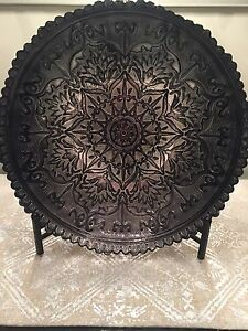 Decorative accent bowl with stand
