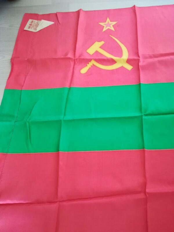Vintage Original Flag of Moldova Moldovian Soviet Socialist Republic USSR