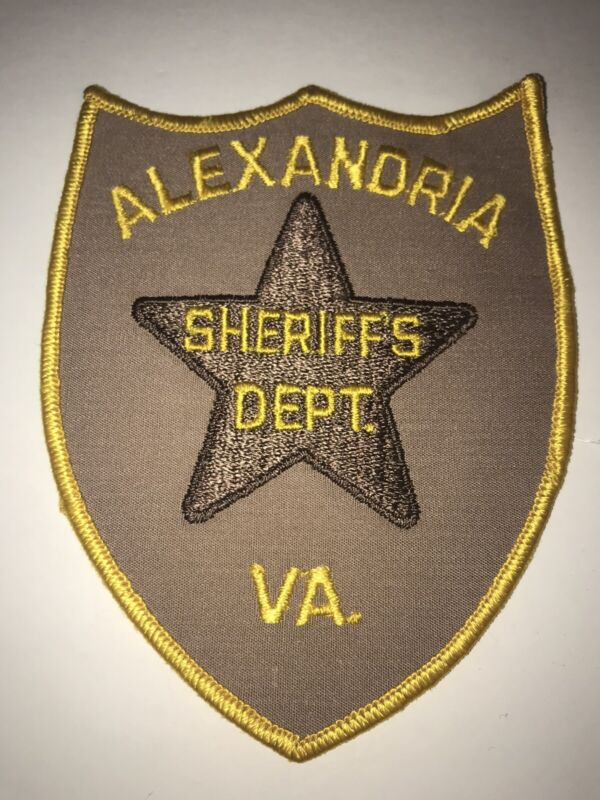 Vintage Alexandria Virginia Sheriffs Dept Patch Cheesecloth VA Police Patch