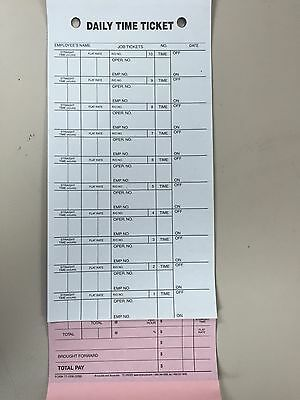 Mechanics Daily Job Time Tickets 3 Part.250 Per Box Pressure Sensitive