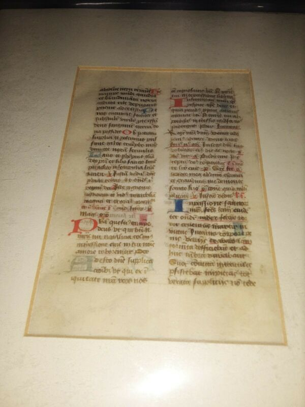 Leaf From A Midieval Manuscript Breviary .mid 15th Century On Vellum