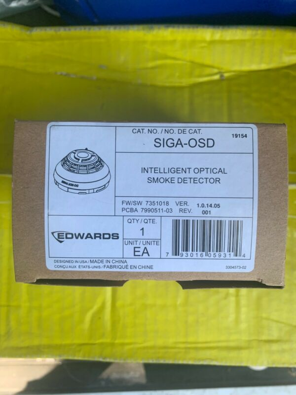 EDWARDS EST SIGA-OSD INTELLIGENT OPTICAL SMOKE DETECTOR NIB!!