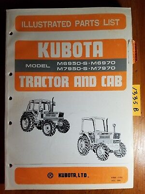 Kubota M6950-s M6970 M7950-s M7970 Tractor Cab Illustrated Parts List Manual