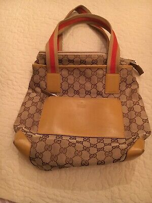 Vintage Gucci GG Canvas Mini Tote Bag Pre Owned
