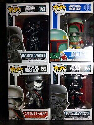Funko Star Wars Empire Lot 4 Captain Phasma Darth Vader Boba Fett Death Trooper