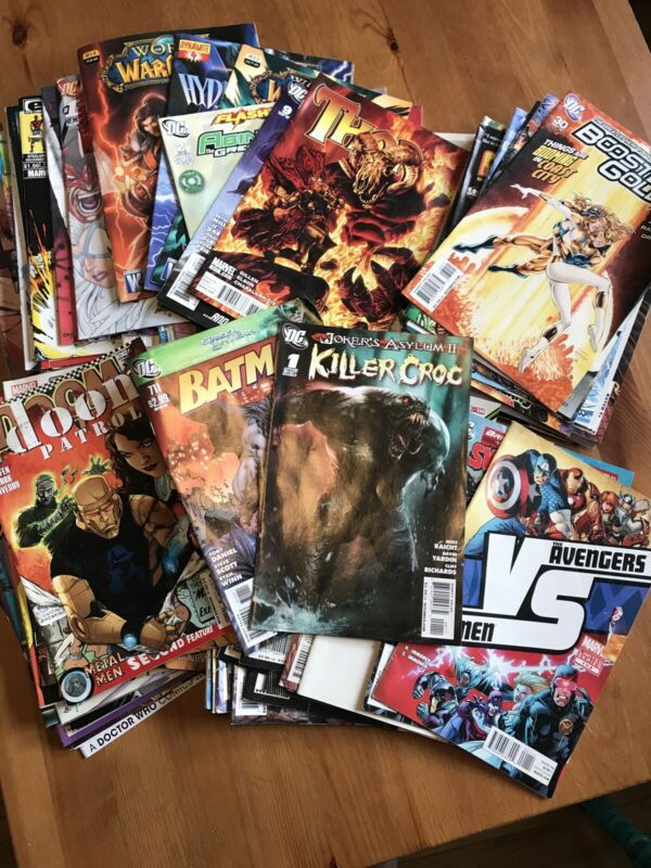 DC Marvel Indy Readers Comic Book Lot of 80 Mixed Comics 80s, 90s, Current