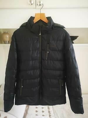 Jack Wolfskin All Weather Jacket Coat Black Green Hooded Padded Medium UK