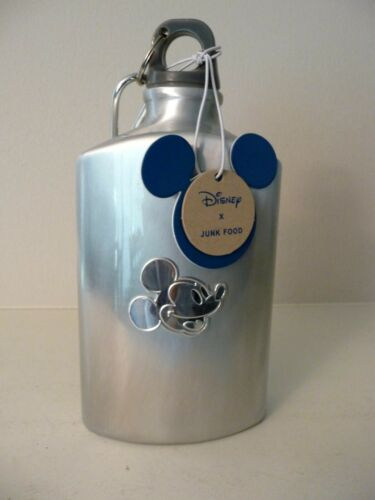 NEW Mickey Mouse Aluminum Water Bottle or Flask w/Screw Top & Carabiner Hook