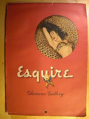 Vintage Esquire Glamour Gallerie 1948 Pin Up Kalender Komplett Original (Vintage Pin-up-kalender)