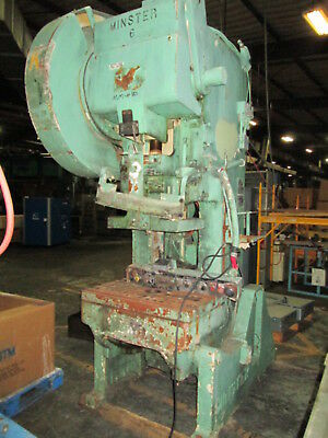 Minster No.6 6stroke 32x 21bolster 60 Ton 30 Spm Obi Gap Type Stamping Press
