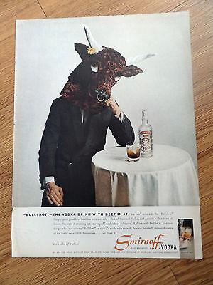 1958 Smirnoff Vodka Ad  Bullshot