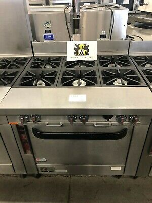 Southbend P36a-bbb - 36 Heavy Duty Gas Range With 6 Burners Convection Oven