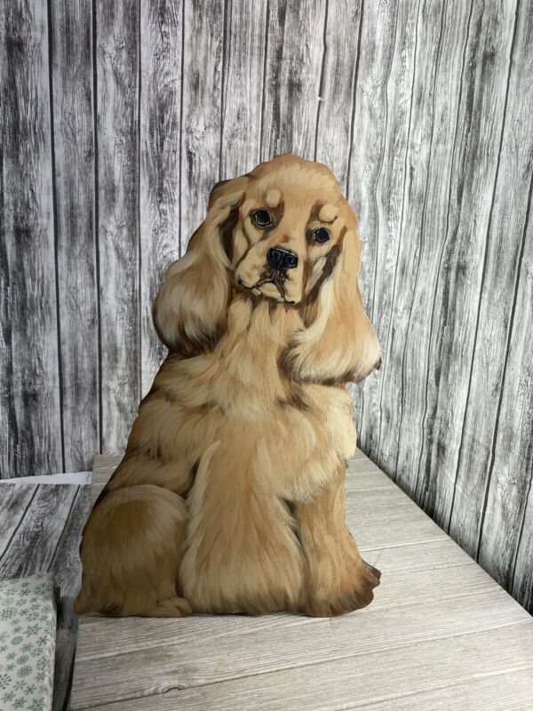 18 Inch Tall Cocker Spaniel Door Wedge hamdpainted Wood Balsa