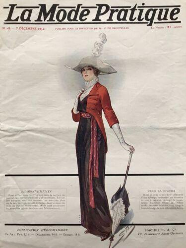 MODE PRATIQUE Dec 7,1912 + sewing patterns - Evening coat, Simple dress