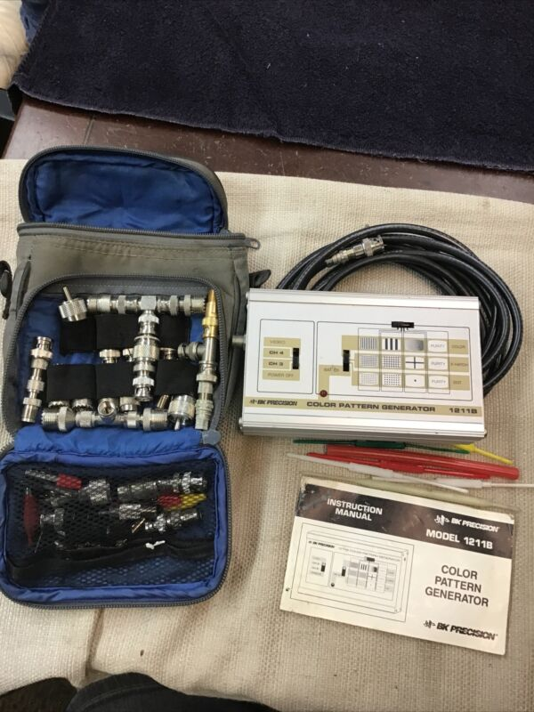 BK Precision Color Pattern Generator 1211B w/ Cords, Manual (b137)