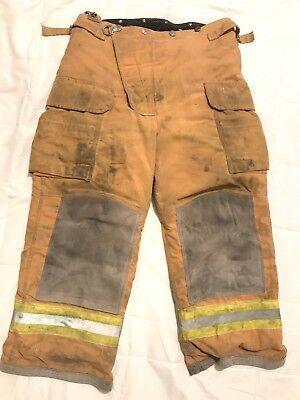 Lion Body Guard Firefighter Turnout Pants Bunker Gear W Liner 36 X 28