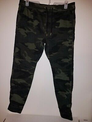 HOLLISTER MENS ADVANCED STRETCH TWILL SUPER SKINNY JOGGER PANTS CAMO SIZE XL