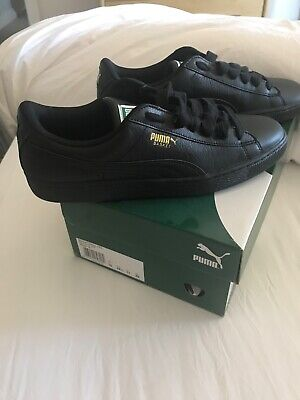 Mens Puma basket classics black-team gold size 10