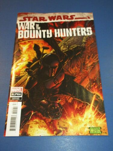 Star Wars War of the Bounty Hunters Alpha #1 Rare Black Armor Variant NM Gem