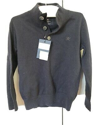 NWT Hackett London Kids Mockneck Cotton and Cashmere Sweater Size 3/4 Years $39