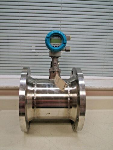 """Siemens Sitrans FX300 Vortex Flowmeter 7ME2600-4TJ11-2AA1-Z 8"""" 150lb ASME Used"""