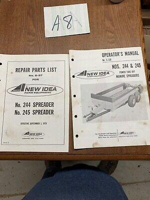 Avconew Idea 244  245 Manure Spreader Partsoperator Manualoriginal Lot