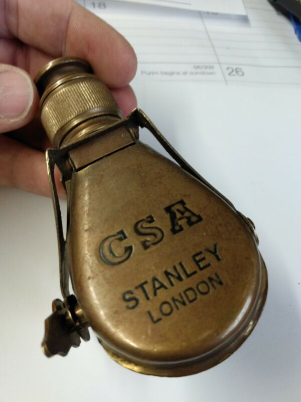 Vintage Stanley London Antique Solid Brass CSA Field Telescope