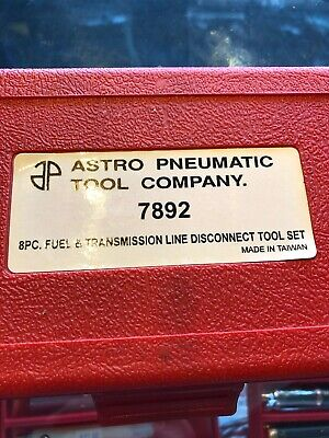Astro Pneumatic 7892 8 Piece Fuel and Transmission Line Disconnect Tool Set Disconnect Tool Set 8 Piece