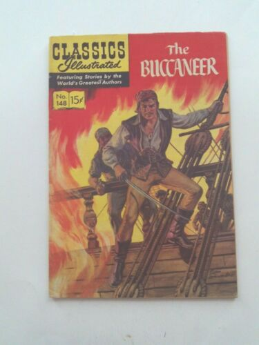 Classics Illustrated #148 - THE BUCCANEER - HRN 148 VG