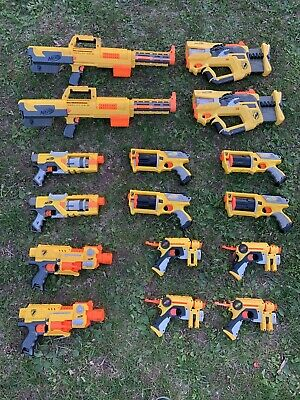 Huge Lot Of 16 Nerf N-Strike Dart Blasters Deploy Barricade Maverick Firefly