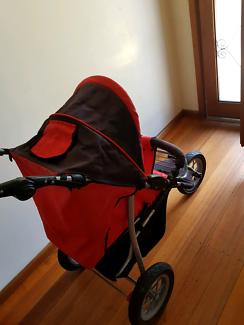 Pram and a car seat