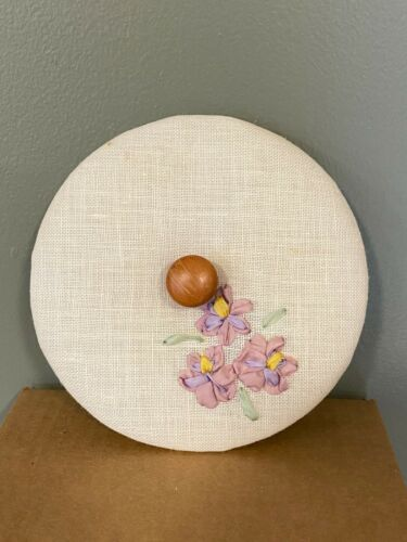 Heart of Dresden Fabric LID for Longaberger May Series Pansy Basket