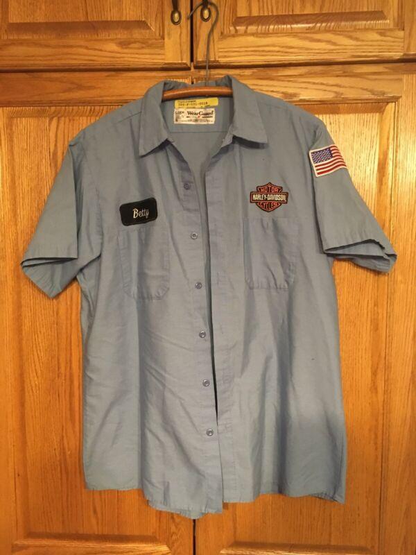 Harley Davidson Dealer Uniform Shirt Large