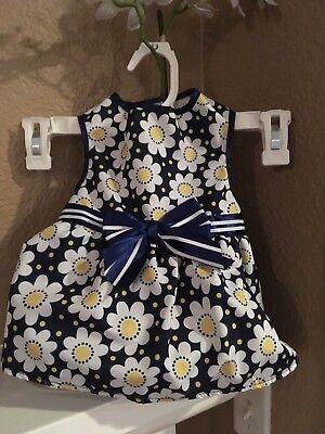 Lulu Pink Navy Daisy Pet Dress Size M 14