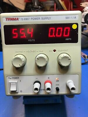 Tenma Laboratory Dc Power Supply 72-6907 56vdc 1.1a Free Shipping