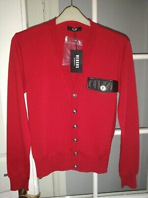 Versus Versace Mens Lion's Head Button Wool Cardigan SWEATER.SIZE S /46RRP£210