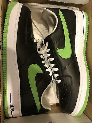 Nike Air Force 1 '07 Black/Mean Green-wht-vrsty Ryl 315122-031 Size US 11