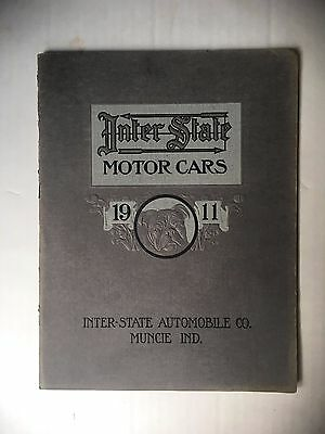 ORIGINAL 1911 INTER STATE MOTOR CARS CATALOG