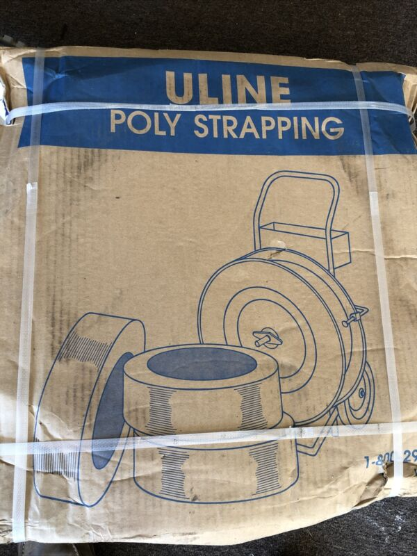 "Uline S-2377 Yellow Poly Strapping - 1/2"" x .024 x 7200"
