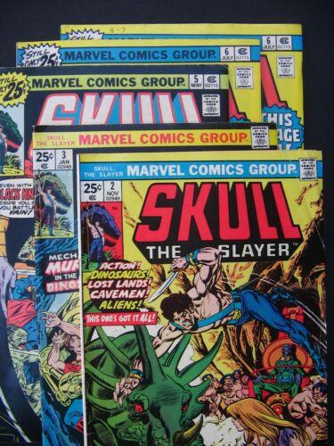 Skull The Slayer #2, 3, 5, 6, 6 1975 Lot of 5 Mid Grade Marvel Comics