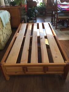 Bed Frame- Twin Size | Solid Mexican Wood