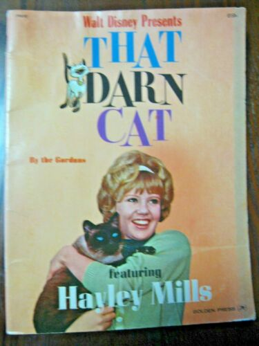 Walt Disney Presents That Darn Cat By Gordons Haley Mills Golden Press 1965