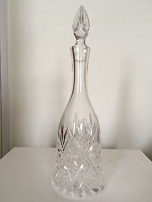 Stunning Cut Glass Vintage Wine Decanter