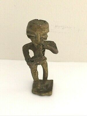 Gold Weight Bronze Figure Small African WEIGHT 2 1/2 IN AKAN Tribal Vintage old