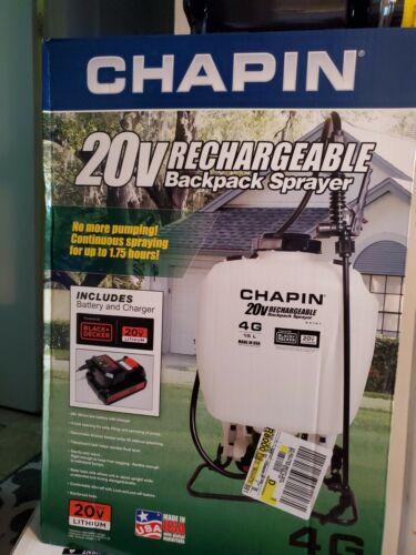 63101 20v 4 gallon rechargeable backpack sprayer
