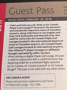 Maple Leafs Air Canada Lounge Guest Pass
