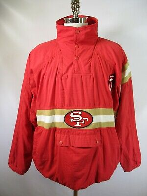 E5434 VTG 90s APEX BIONIC San Francisco 49ers NFL Football Pullover Jacket