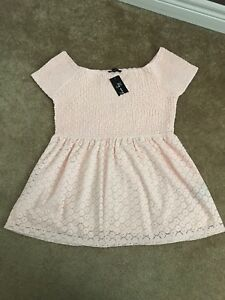 Large pink Lace Lily Morgan top with tags
