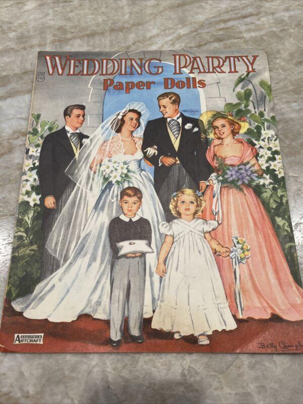 "Paper Dolls - ""Wedding Party"" - Saalfield ~ Undated* ~ Unused ~ FREE SHIPPING"